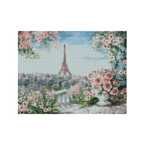 L481 Париж алмазная мозаика 40х50см квадратные стразы