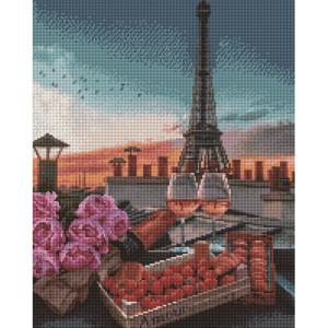 "Алмазная мозаика на подрамнике UА122 ""Романтика вечернего Парижа"", 40х50 см"