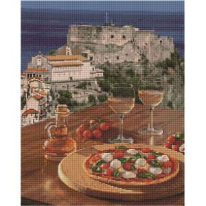 """UА124 Алмазная мозаика на подрамнике """"Итальянская пицца"""", 40х50 см"""
