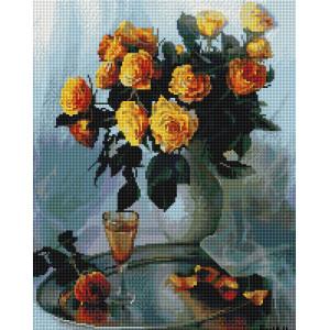 """UА135 Алмазная мозаика на подрамнике """"Букет желтых роз"""", 40х50 см"""