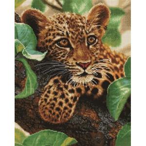 """Алмазная мозаика на подрамнике GF1414 """"Леопард на дереве"""", 40х50 см"""