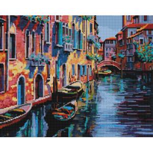 """Алмазная мозаика на подрамнике UА143 """"Канал в Венеции"""", 40х50 см"""