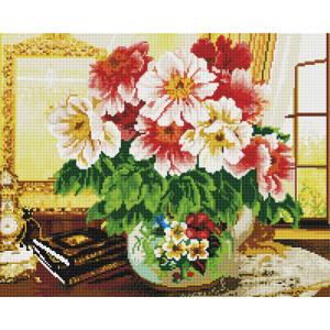 Алмазная мозаика, 40х50, квадратные стразы GF 1733 Цветы на столе