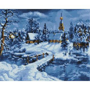 Алмазная мозаика, 40х50, квадратные стразы GF 1751 Зимняя сказка