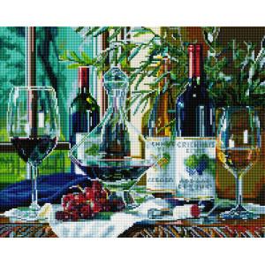 "UА180 Алмазная мозаика на подрамнике ""Виноградное вино"" 40х50 см"