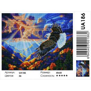 "UА186 Алмазная мозаика на подрамнике ""Полет орла"" 40х50 см"