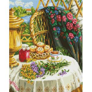 """GF1979 Алмазная мозаика на подрамнике """"Чаепитие на природе"""" 40х50 см"""