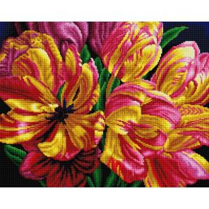 """UА179 Алмазная мозаика на подрамнике """"Букет ярких тюльпанов"""" 40х50 см"""