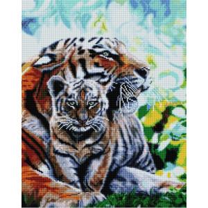 """UА173 Алмазная мозаика на подрамнике """"Тигрица с детенышем"""" 40х50 см"""