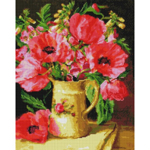 """UА151 Алмазная мозаика на подрамнике """"Мкаки и полевые цветы"""", 40х50 см"""
