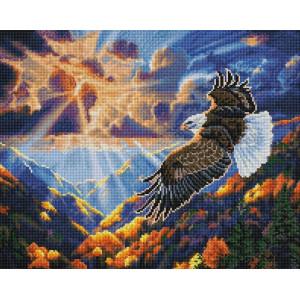 "Алмазная мозаика на подрамнике UА186 ""Полет орла"" 40х50 см"
