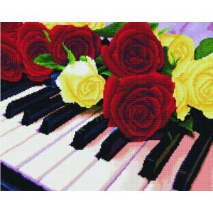 """Алмазная мозаика на подрамнике GF3790 """"Цветы и музыка"""", 40х50 см"""