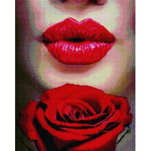 """Алмазная мозаика на подрамнике GF3570 """"Поцелуй и роза"""", 40х50 см"""