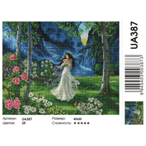 """UA387 Алмазная мозаика на подрамнике """"Цветочная фея"""", 40х50 см"""