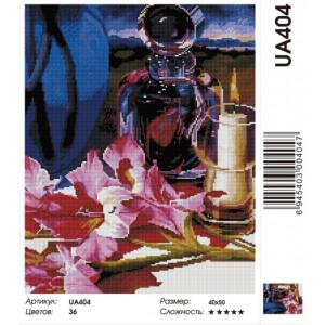 """UA404 Алмазная мозаика на подрамнике """"Натюрморт со свечой"""", 40х50 см"""