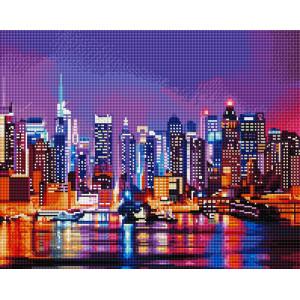"""GF2035 Алмазная мозаика на подрамнике """"Огни ночного города"""", 40х50 см"""