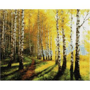 """Алмазная мозаика на подрамнике GF2221 """"Березовый лес"""", 40х50 см"""