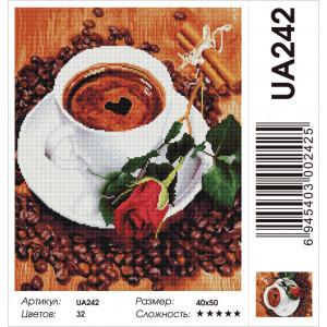 """UA242 Алмазная мозаика на подрамнике """"Кофе для любимой"""" ,  40х50 см"""