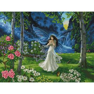 """GF2621 Алмазная мозаика на подрамнике """"Цветочная фея"""", 40х50"""