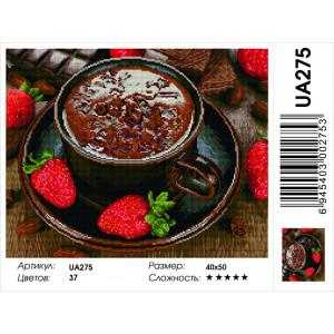 "UA275 Алмазная мозаика на подрамнике ""Горячий шоколад"", 40х50 см"