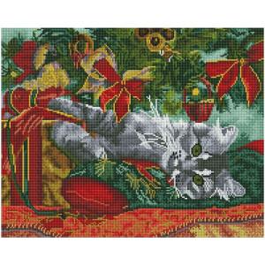 """GF2938 Алмазная мозаика на подрамнике """"Новогодний подарок"""", 40х50 см"""