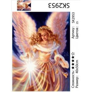 "SK2953 ""Девушка-ангел со звездой"", 40х50 см"