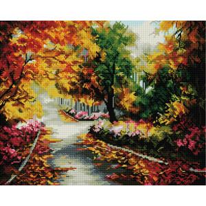 Алмазная мозаика, 40х50, квадратные стразы GF 692 Осенний лес