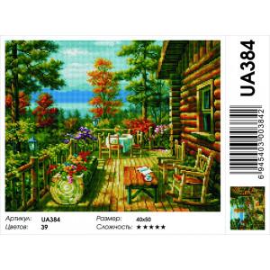 """UA384 Алмазная мозаика на подрамнике """"Шале"""",  40х50 см"""