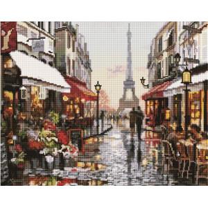 """GF1198 Алмазная мозаика на подрамнике """"Прогулка по Парижу"""", 40х50 см"""