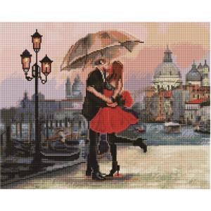 """GF1471 Алмазная мозаика на подрамнике """"Свидание в Венеции"""" , 40х50 см"""
