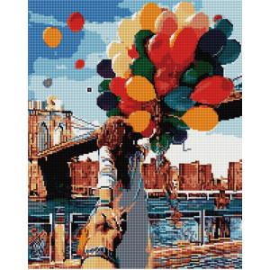 """GF1480 Алмазная мозаика на подрамнике """"Воздушные шары.Следуй за мной"""" , 40х50 см"""