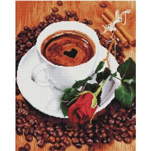 """GF1535 Алмазная мозаика на подрамнике """"Кофе для любимой"""" , 40х50 см"""