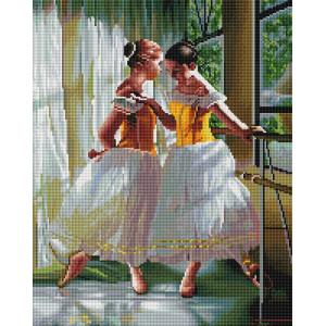 "GF2045 Алмазная мозаика на подрамнике ""В балетном классе"", 40х50 см"