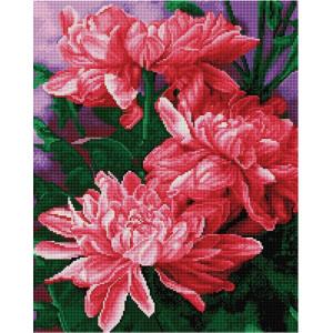 "GF2216 Алмазная мозаика на подрамнике ""Хризантемы"", 40х50 см"