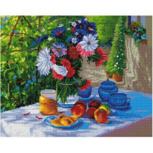 """GF2930 Алмазная мозаика на подрамнике """"Цветы на террасе"""", 40х50 см"""