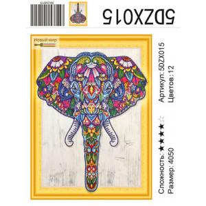 """5DZX015 алмазная мозаика вышивка 5д """"Слон"""", 40х50 см"""