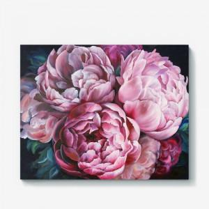 """12133 Алмазная мозаика """"Розовые пионы"""", 40х50 см"""