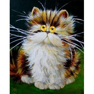 """12152 Алмазная мозаика """"Кот с желтыми глазами"""", 40х50 см"""