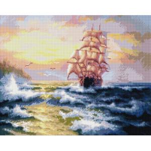 """GF1370 Алмазная мозаика на подрамнике """"Попутный ветер"""" , 40х50 см"""