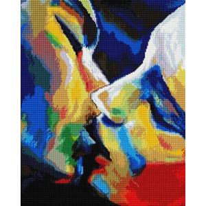 """GF1390 Алмазная мозаика на подрамнике """"Радужный поцелуй"""" , 40х50 см"""
