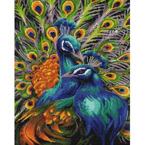 """GF2057 Алмазная мозаика на подрамнике """"Павлины"""", 40х50 см"""