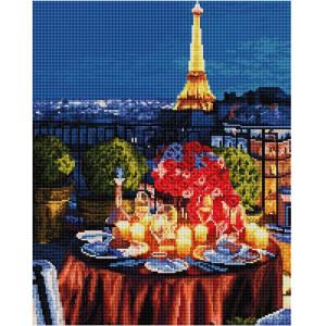 """GF2485 Алмазная мозаика на подрамнике """"Ужин при свечах в Париже"""", 40х50 см"""