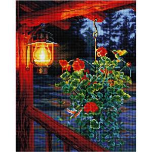 """GF2492 Алмазная мозаика на подрамнике """"Ночной фонарь"""", 40х50 см"""