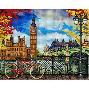"""GF2495 Алмазная мозаика на подрамнике """"Набережная Лондона"""", 40х50 см"""