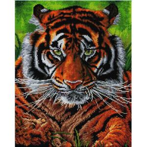 """GF2499 Алмазная мозаика на подрамнике """"Взгляд тигра"""", 40х50 см"""