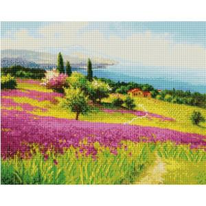 """GF2226 Алмазная мозаика на подрамнике """"Цветущий склон"""", 40х50 см"""
