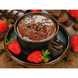 "GF2613 Алмазная мозаика на подрамнике ""Горячий шоколад"", 40х50 см"