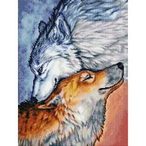 """GF2614 Алмазная мозаика на подрамнике """"Волчья верность"""", 40х50 см"""