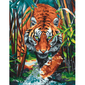 Картина по номерам GX 30724 Охота тигра 40*50