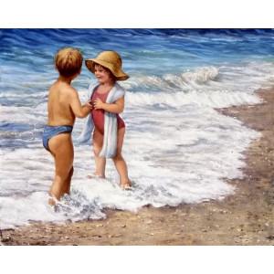 GX 23150 Детская радость волнам картины по номерам на холсте 40х50 см